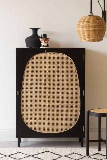 Sungkai Woven Cane Mango Wood Single Door Cabinet Black Rockett St George In 2020 Furniture Design Furniture Inspiration Cane Furniture