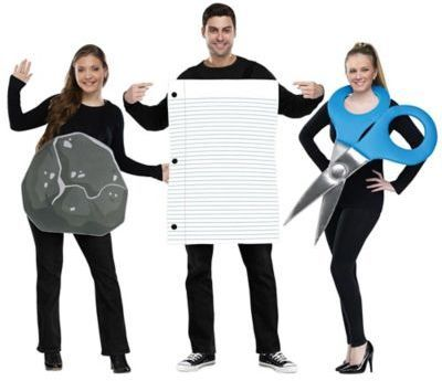 Rock Paper Scissor 3-Piece Halloween Costume Costumes Pinterest - halloween ideas for 3