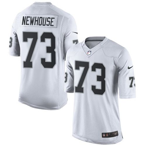 Men's Nike Oakland Raiders #73 Marshall Newhouse Limited White NFL Jersey