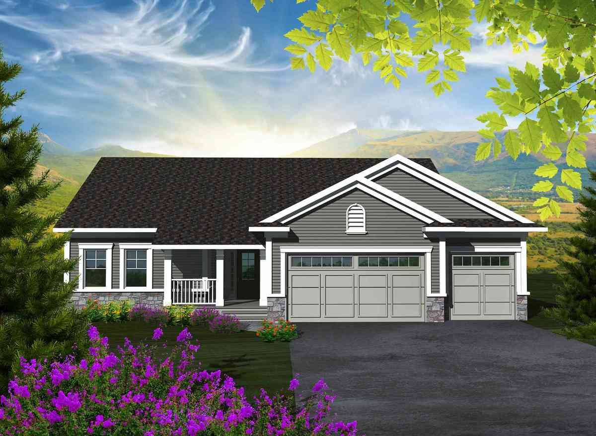 Affordable 3 Bedroom Ranch Craftsman house plans, Ranch