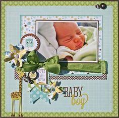 "doodlebug ""baby boy"" layout - very cute"