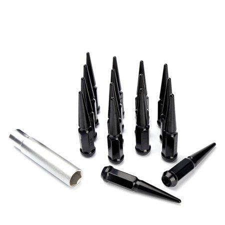 Metal Lugz Spiked Lugz Chrome 7//16 thread 4.4 overall length kit contains 20 Lugs /& 1 Key