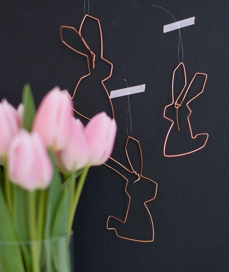 Osterdeko DIY: einfache & stylische Häschen | Easter, Spring ...