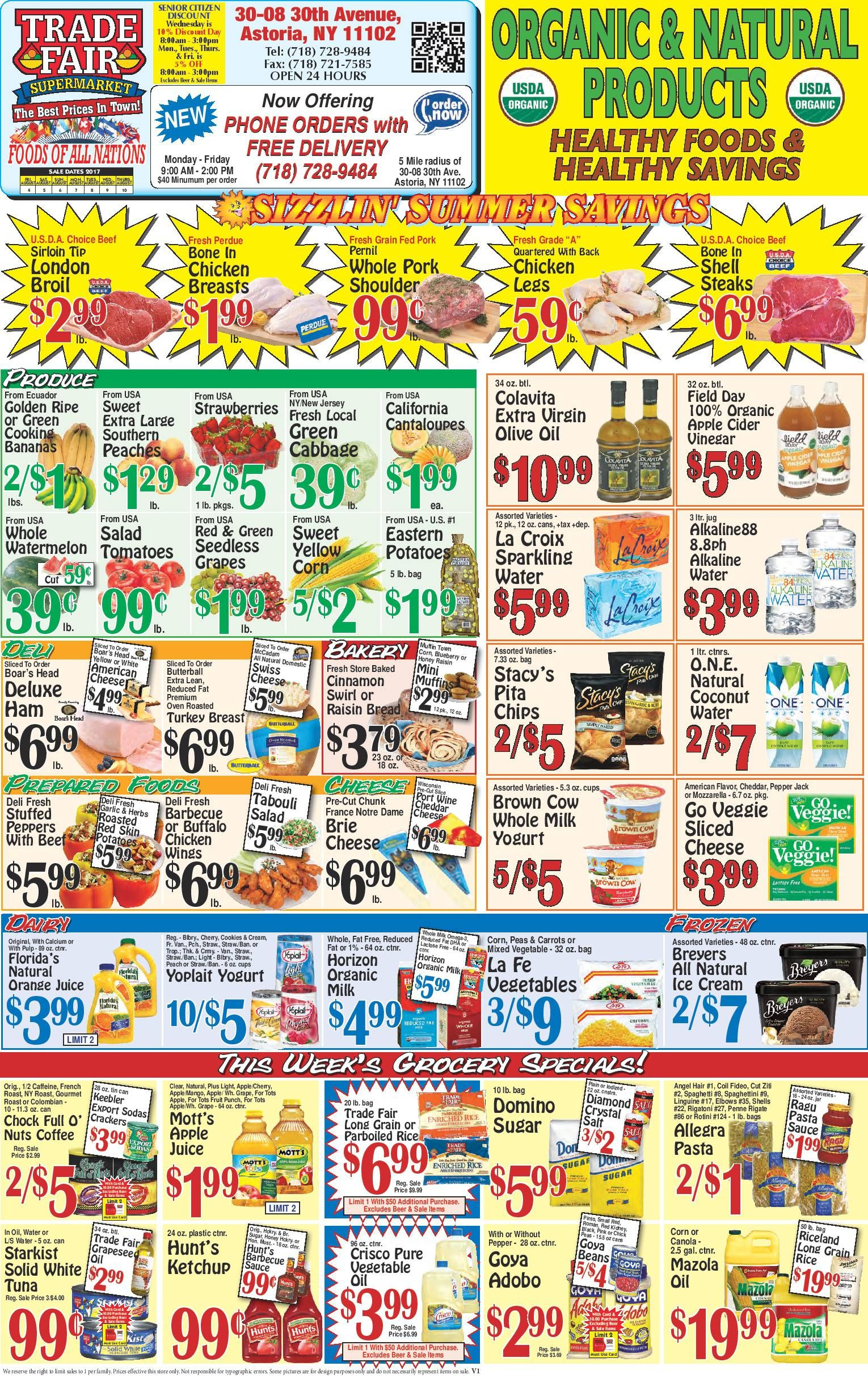 Trade fair supermarket weekly ad august 4 10 2017