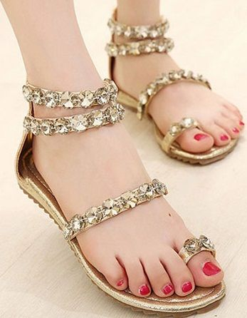 271c9b726 9 Latest Designer Flat Sandals for Women With Images | Fazal | Shoes ...