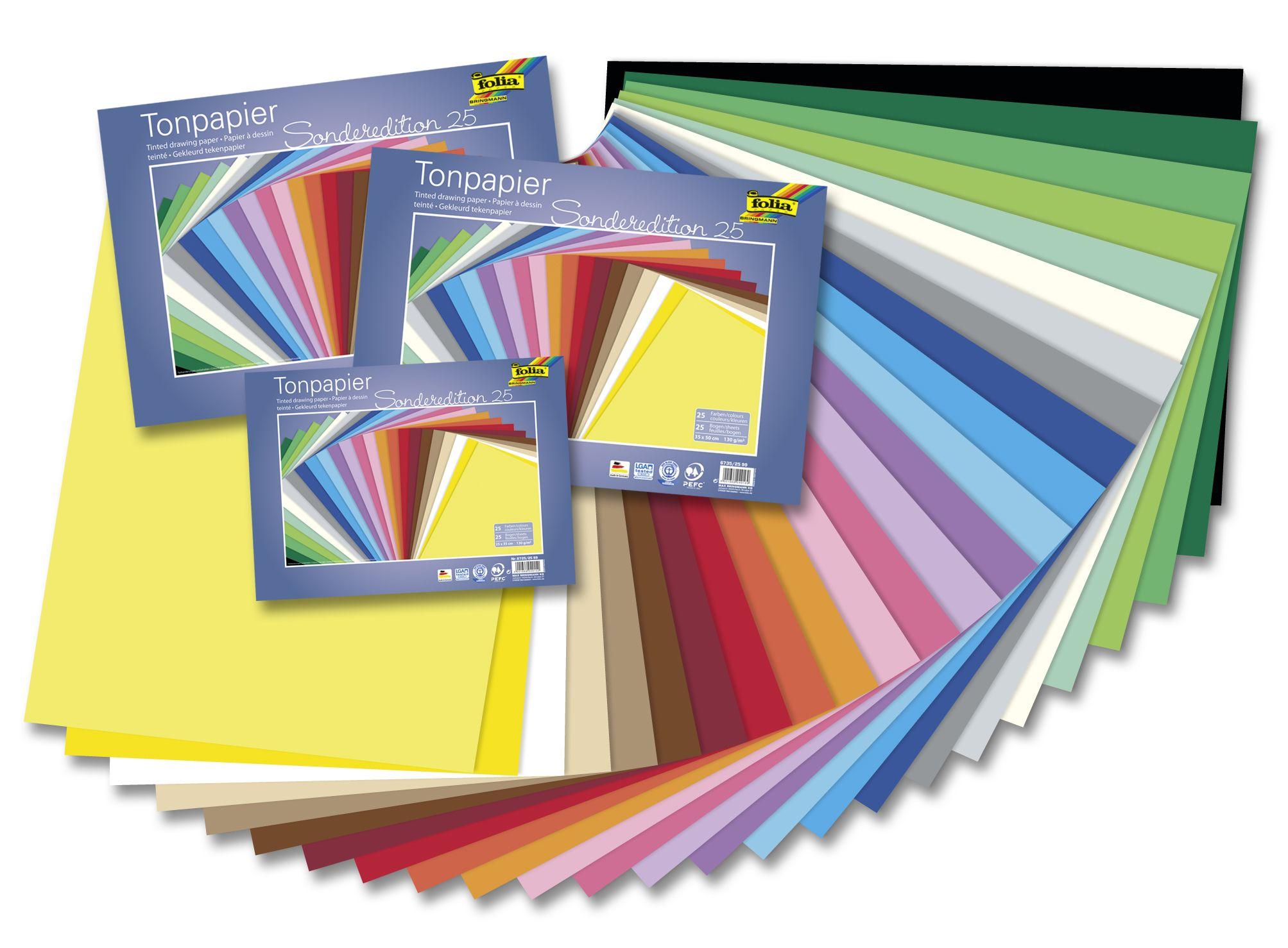 Robustes und beständiges Tonpapier eignet sich ideal für kreatives Basteln. Mehr unter http://www.folia.de
