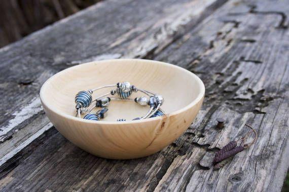 Wooden Bowl Aspen Tree Jewelry
