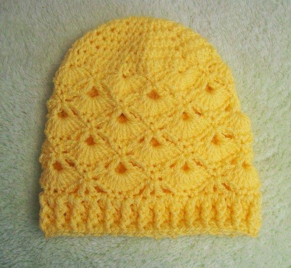 Free Fans Crochet Beanie Pattern #crochet hat pattern by Cats Rockin ...
