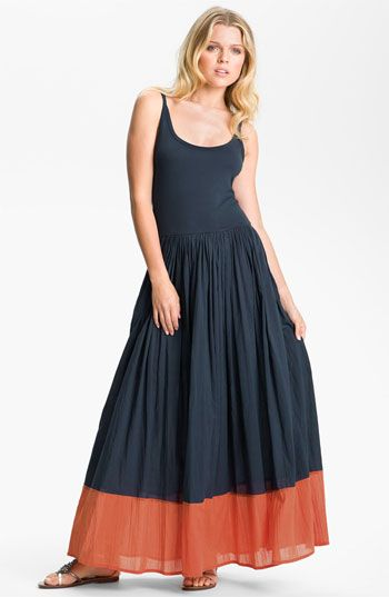 French Connection Colorblock Cotton Tank Maxi Dress | Maxi
