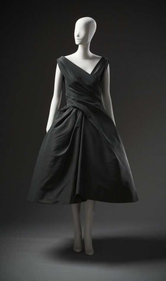 Woman's Cocktail Dress, House of Dior (France, Paris, founded 1946) Christian Dior (France, Paris, 1905-1957) France, fall/winter 1957-1958   LACMA Collections