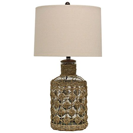 Glass and woven seagrass table lamp kirklands living room glass and woven seagrass table lamp kirklands aloadofball Image collections
