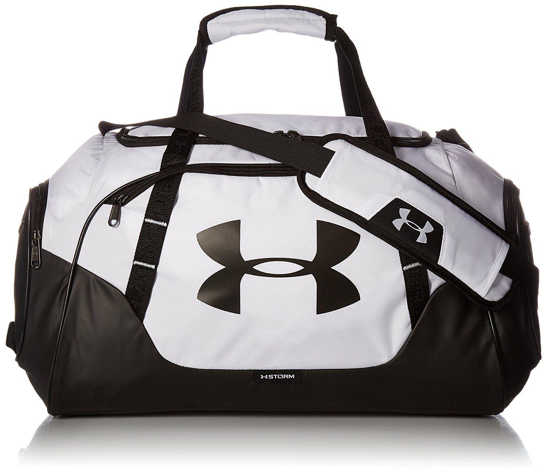 331c971e4f7 Amazon.com  Under Armour Undeniable 3.0 Small Duffle Bag, White Black, One  Size  Clothing