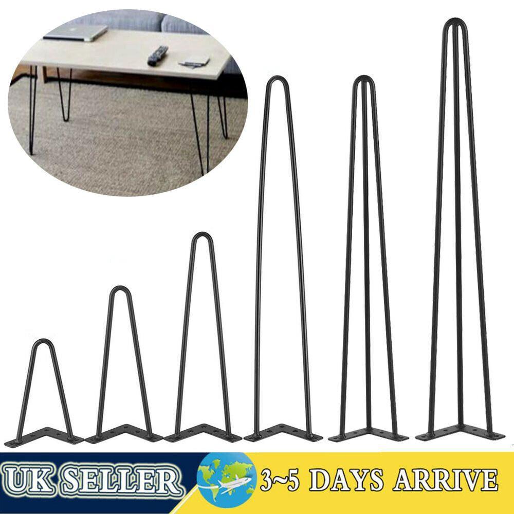 4 x Hairpin Legs Hair Pin Legs Set for Furniture Bench Desk Table Coffee Table