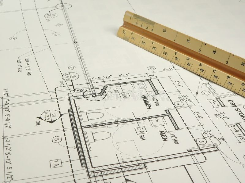 Architect S Drawing An Architect S Wrokspace With Rolled Plans A Drawing In Pr Sponsored Architect Stock Photography Free Architect Drawing Architect