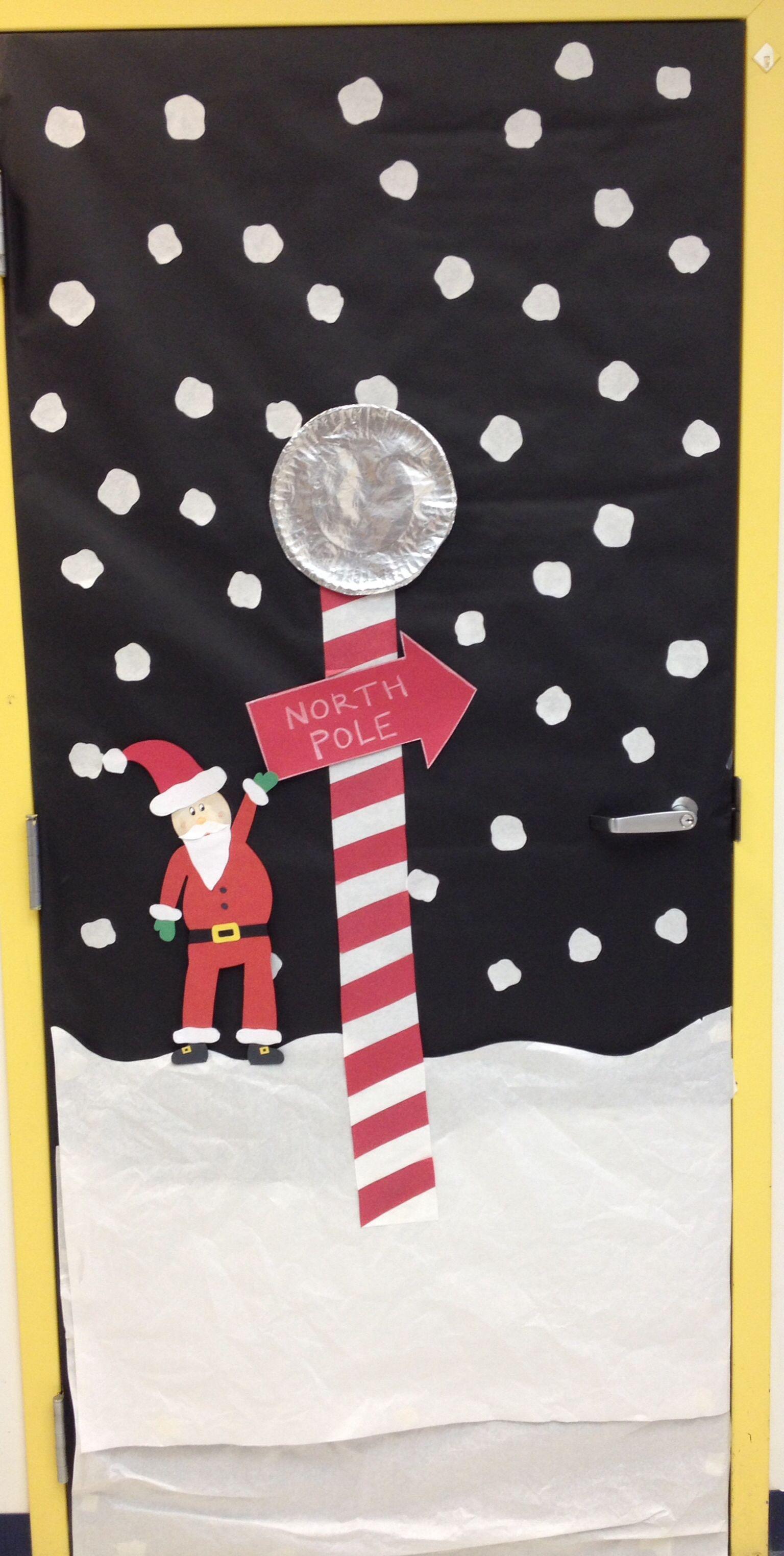 North Pole Christmas Decorations For Doors School Door