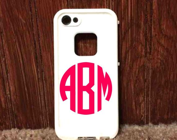 Custom monogram personalized sticker for any phone by treasuresbyallie any letters and pick from a