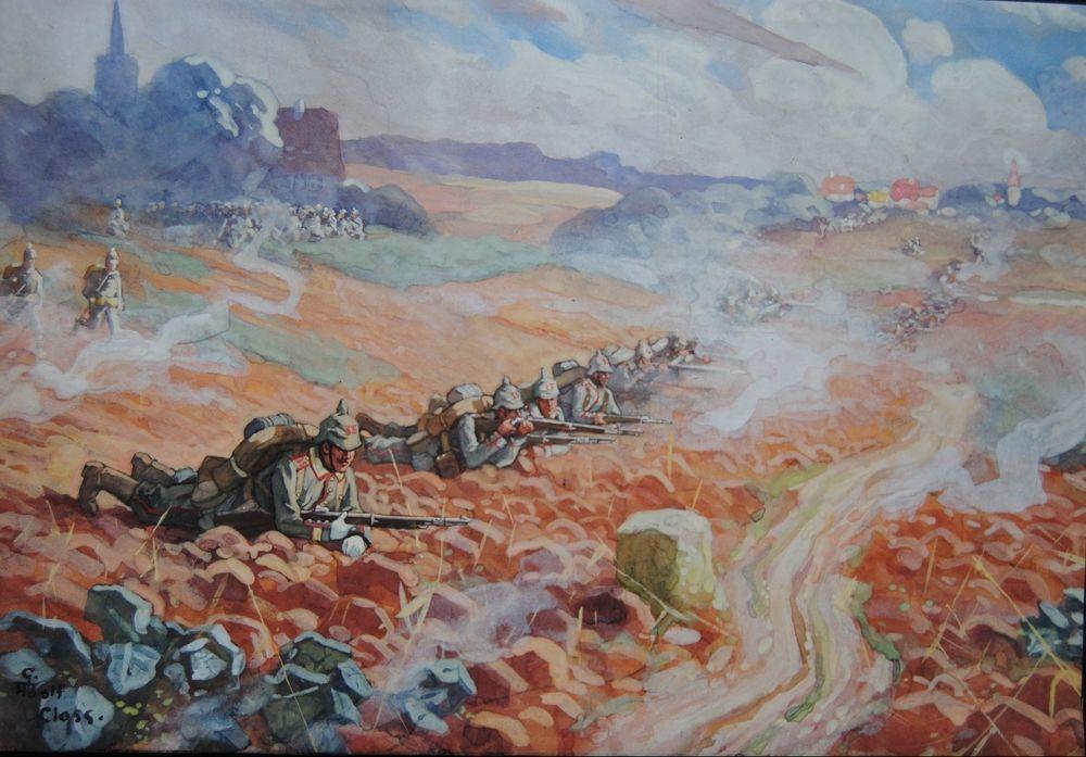 Gustav Adolf Closs Infanterie 1. WK signiert Erster Weltkrieg 35. Batallion