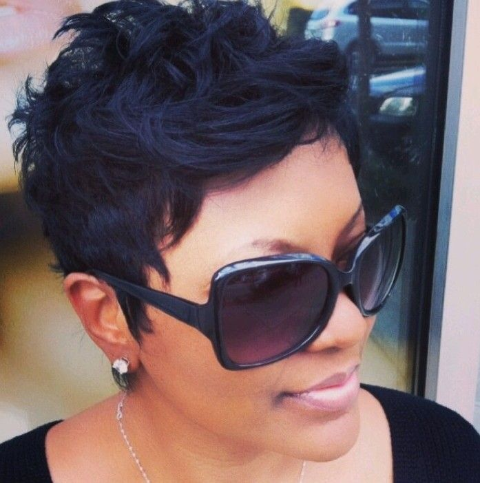 Image Result For Cute Short Haircuts For Black Females With Round Faces