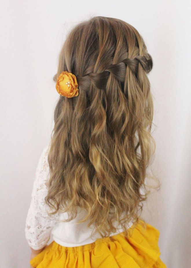 This is a waterfall braid which you start at one side and work your ...