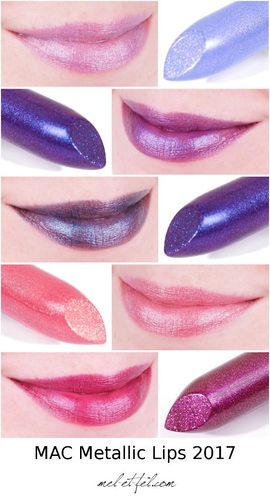 Mac Bangin Brilliant Collection: MAC Metallic Lips Anything Once, Cold Front, Royal Hour