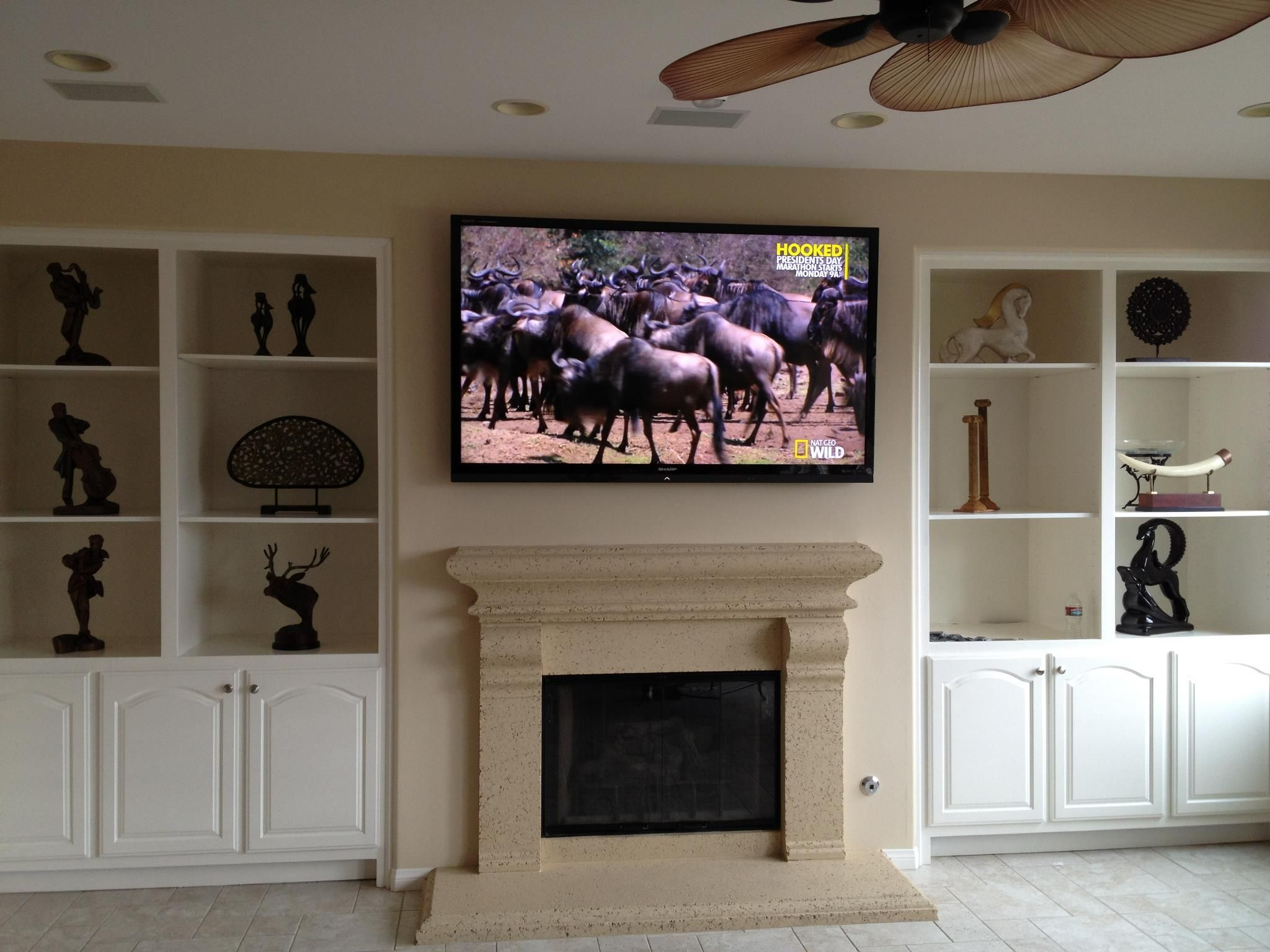 TV Installation Above A Fireplace By Theater Monster | Home Theater |  Pinterest | Tv Installation, Photo Galleries And Surround Sound