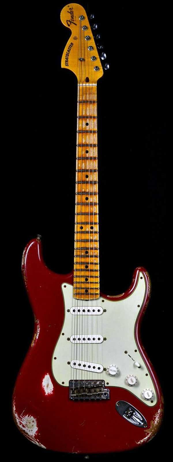 Fender 1969 Heavy Relic Stratocaster Faded Dakota Red with Reverse Headstock #fenderguitars