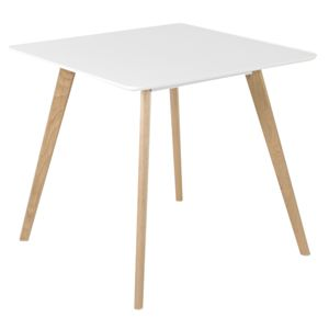 Table de repas carr�e en bois blanc mat Flam Id'Clik