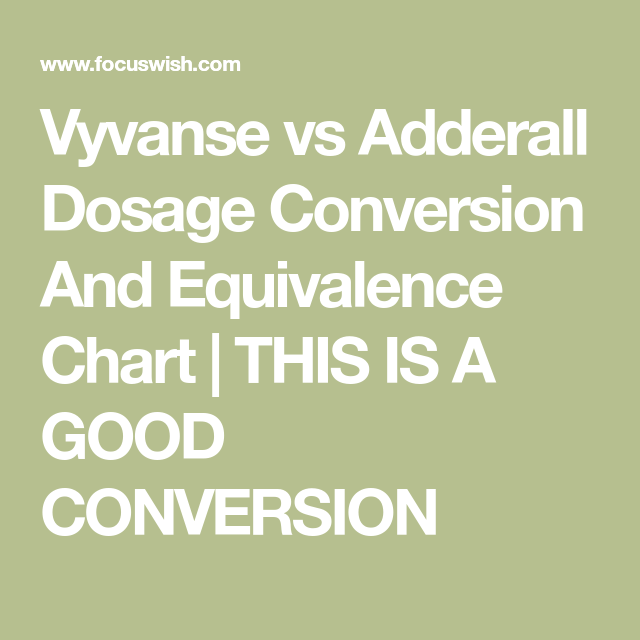 Vyvanse vs adderall dosage conversion and equivalence chart this is  good also rh pinterest