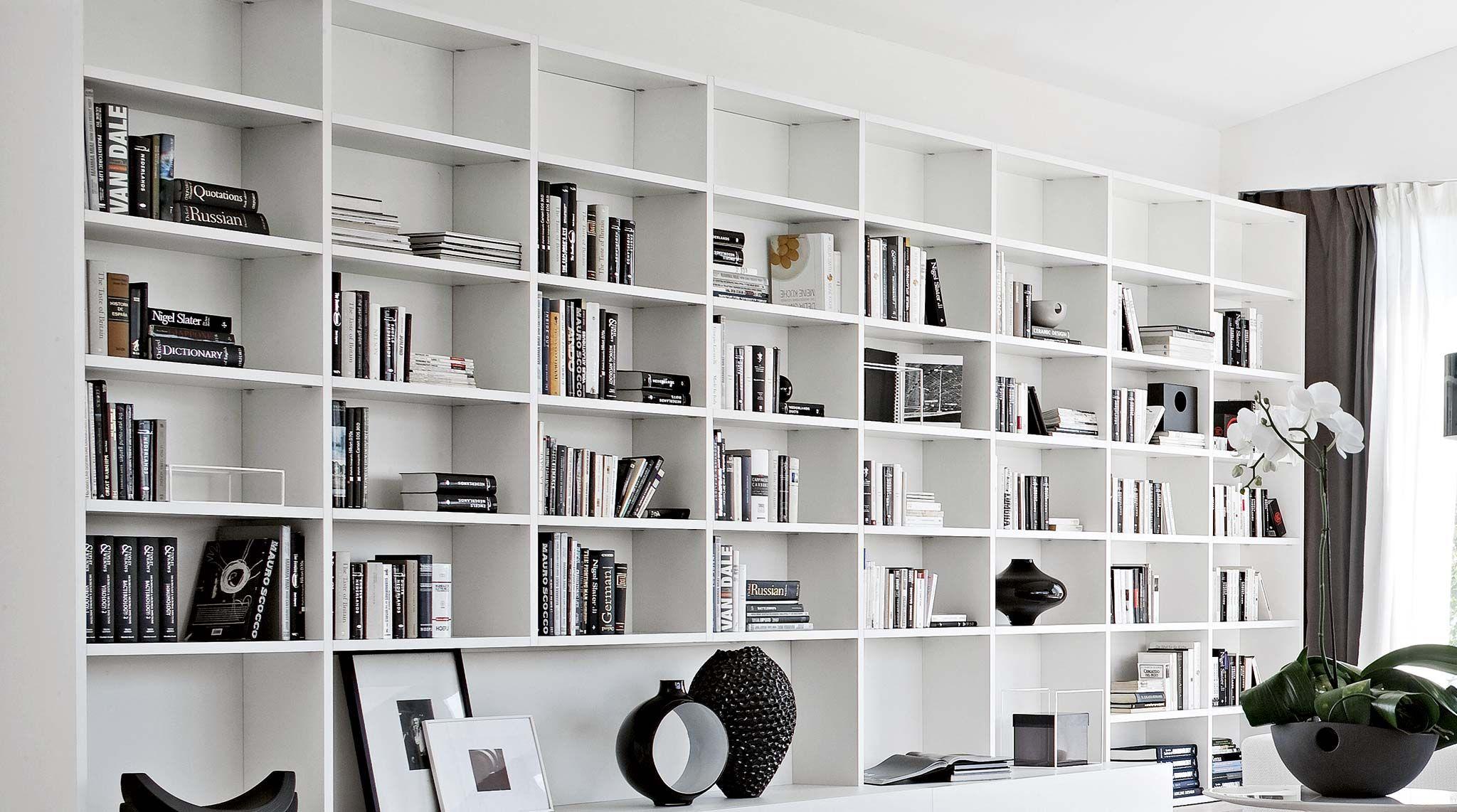 libreria componibile a parete su misura artik - sololibrerie ... - Arredamento Design Living