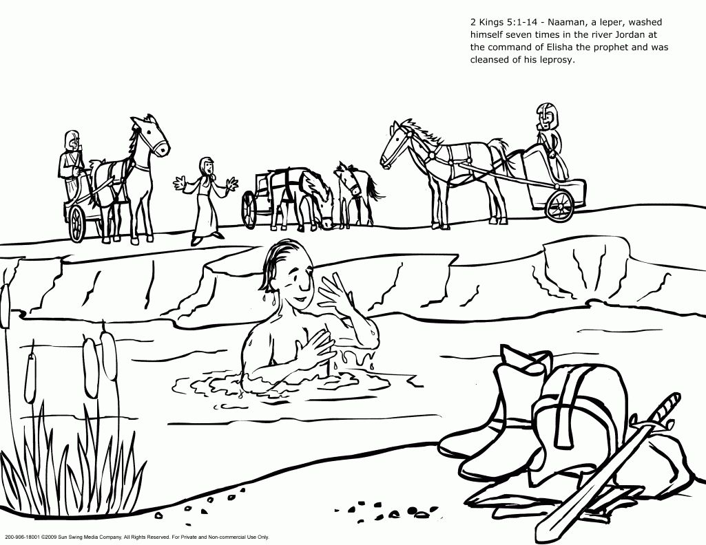 Naaman And The Servant Girl Coloring Pages Naaman The