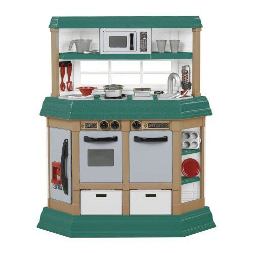 american plastic toy cookin u0027 kitchen  025217119406  realistic burners with lights and sounds sizzling american plastic toy cookin u0027 kitchen  025217119406  realistic      rh   pinterest com