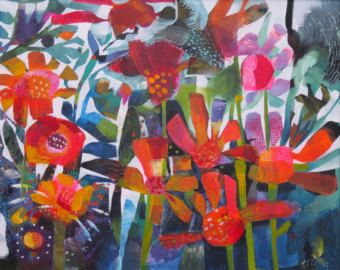 Orange flowers, a summery limited edition giclee print.
