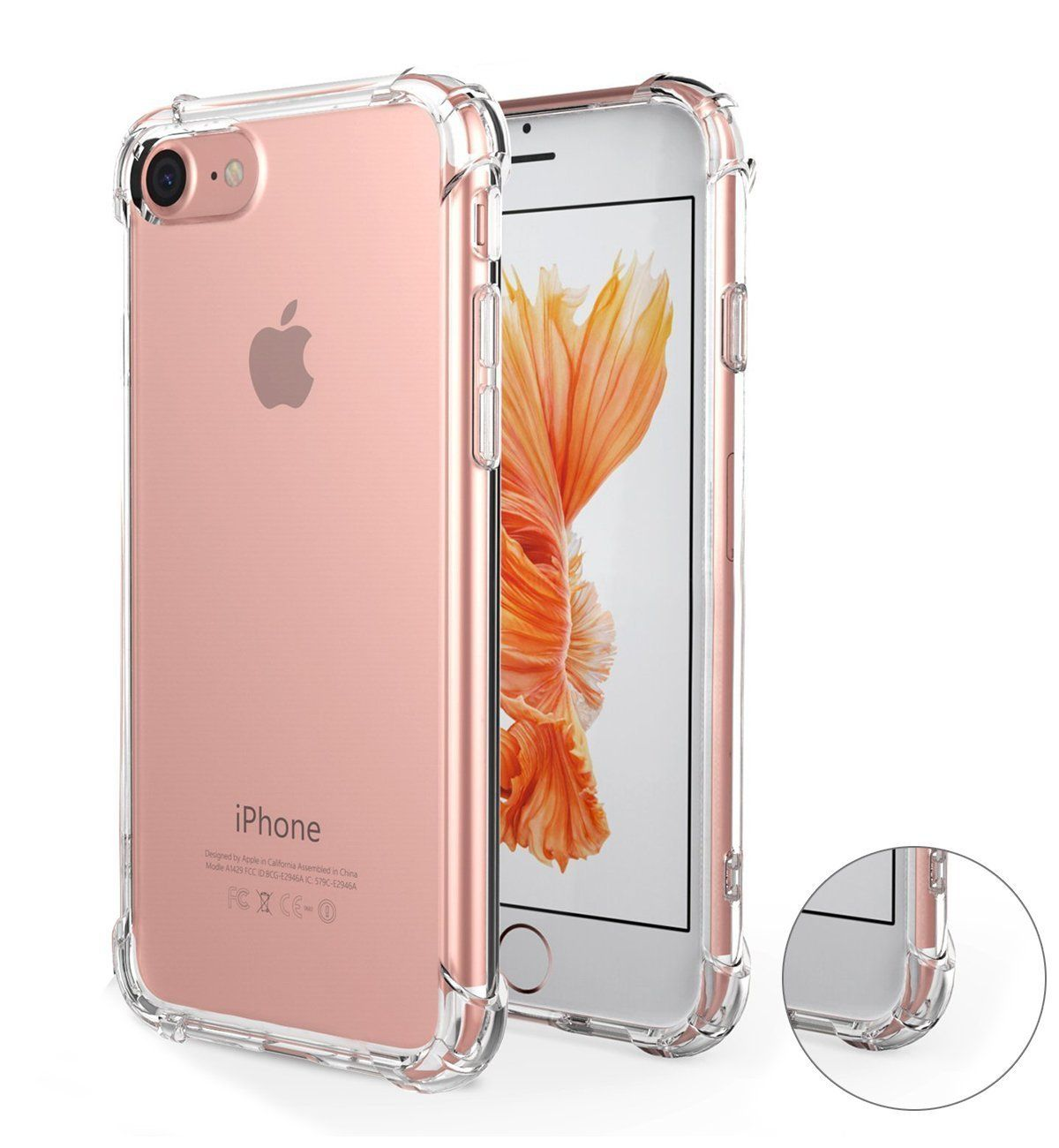 Iphone 7 Case Iphone 8 Case Bwealth Apple Iphone 7 8 Cover Crystal Clear Shock Absorption Technology Corner Bumpers S Iphone Bumper Case Iphone Iphone Bumper