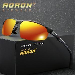 e7586aa071 AORON 2018 Men s Polarized Sunglasses Aluminum Magnesium Frame Car Driving  Sun Glasses 100% UV400 Polarised