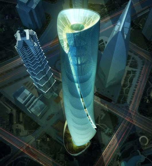 The Shanghai Tower Designed By Architectural Designer Marshall Strabala Is To Be Chinas Tallest Building Upon Its Completion Currently Under Const