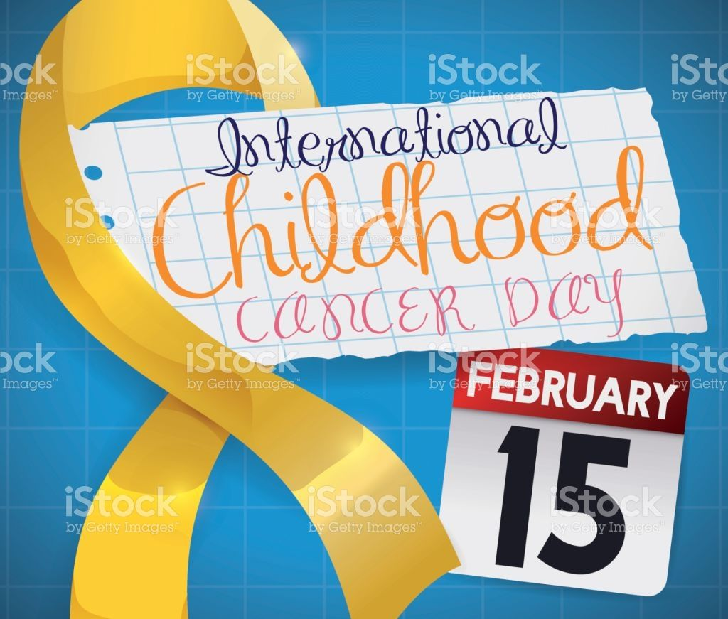Poster with Reminder Date of International Childhood Cancer Day