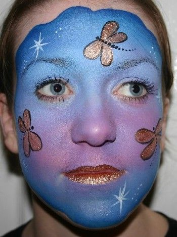 blue-and-purple-dragonfly-face-painting-by-hazel-wood-professional-face-painter-of-jolly-good-productions.jpg (350×469)