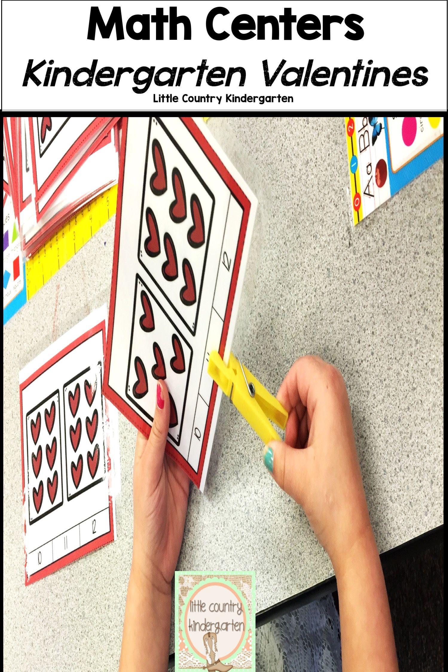 Valentines Day Activities Kindergarten Math Centers