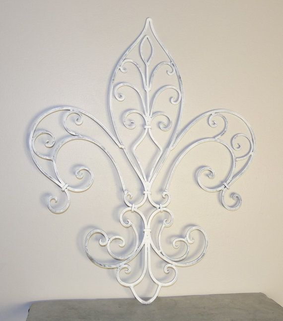 Fleur De Lis Wrought Iron Wall Decor, French Country, Home Decor,  Housewares, Indoor/Outdoor Decor, Wall Decor, Shabby Chic Decor On Etsy,  $32.99