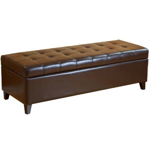 Best Selling Mission Brown Tufted Leather Storage Ottoman Bench Best Http Www Amazon Com Brown Storage Ottoman Leather Storage Ottoman Storage Ottoman Bench