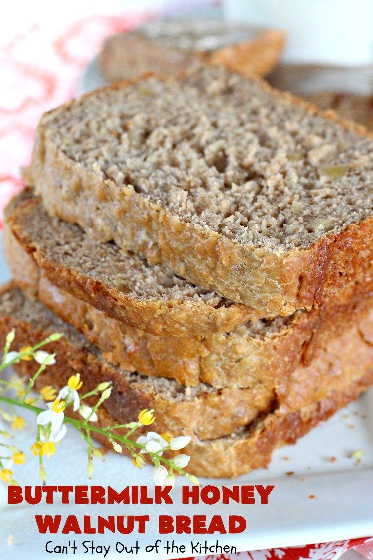 Buttermilk Honey Walnut Bread Recipe In 2020 Walnut Bread Walnut Bread Recipe Banana Walnut Bread