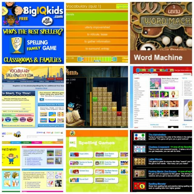 'spelling games online