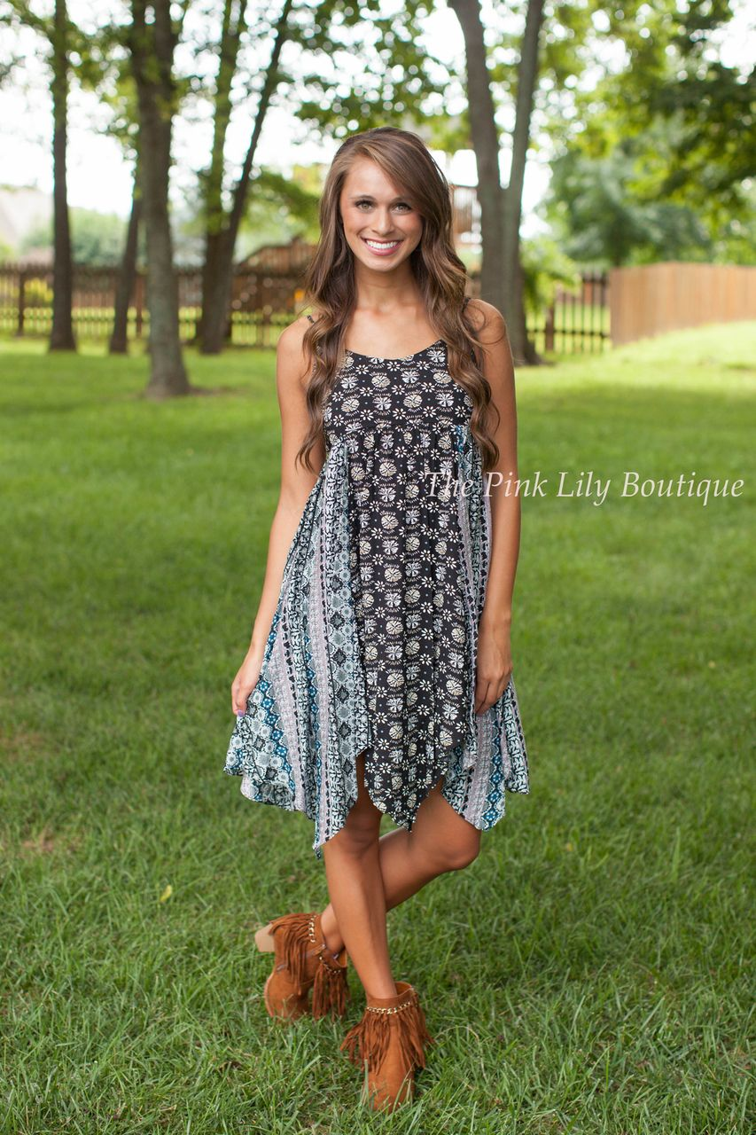 The Pink Lily Boutique - Handkerchief Honey Dress Navy , $37.00 (http://thepinklilyboutique.com/handkerchief-honey-dress-navy/)