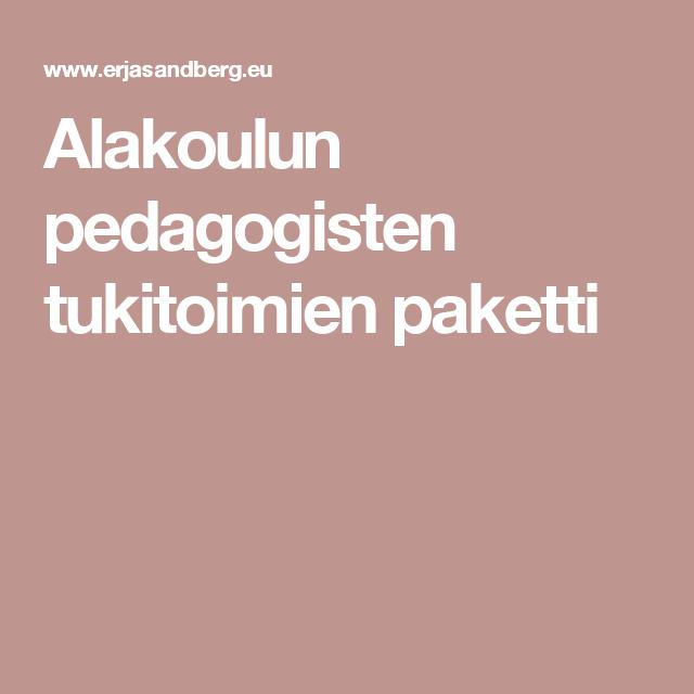 Alakoulun pedagogisten tukitoimien paketti