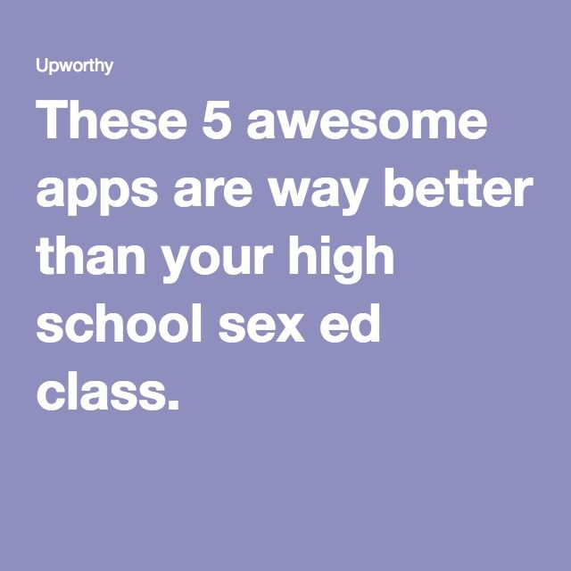 Sex education apps