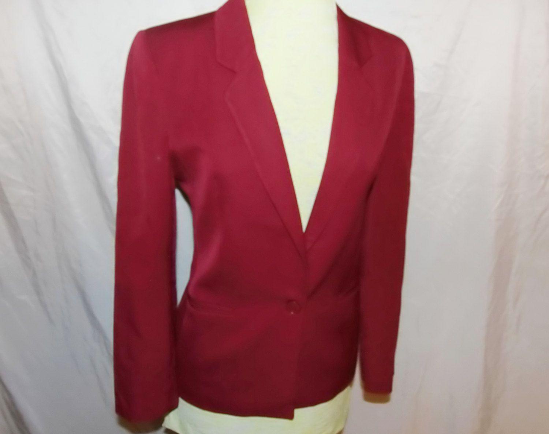 Ladies Vintage Blazer Coat Sir For Her Burgundy Vintage Jacket Size 4 Career Wear Wool Business Jacket For Ladies W Vintage Blazer Vintage Jacket Career Wear