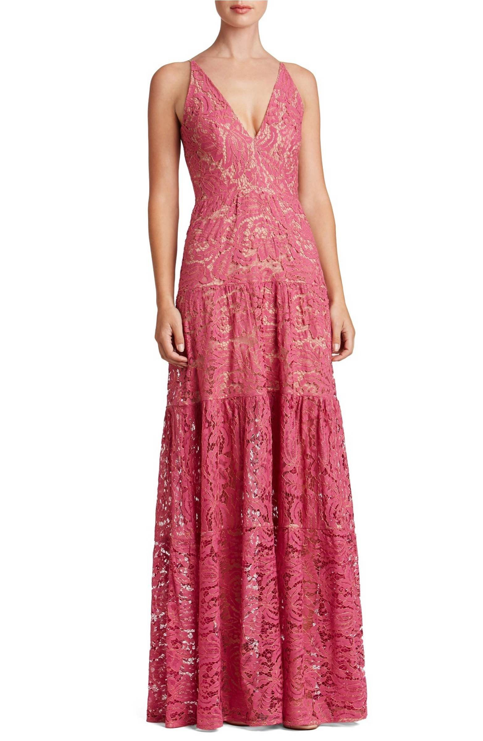 Main Image - Dress the Population Melina Lace Fit & Flare Maxi Dress ...