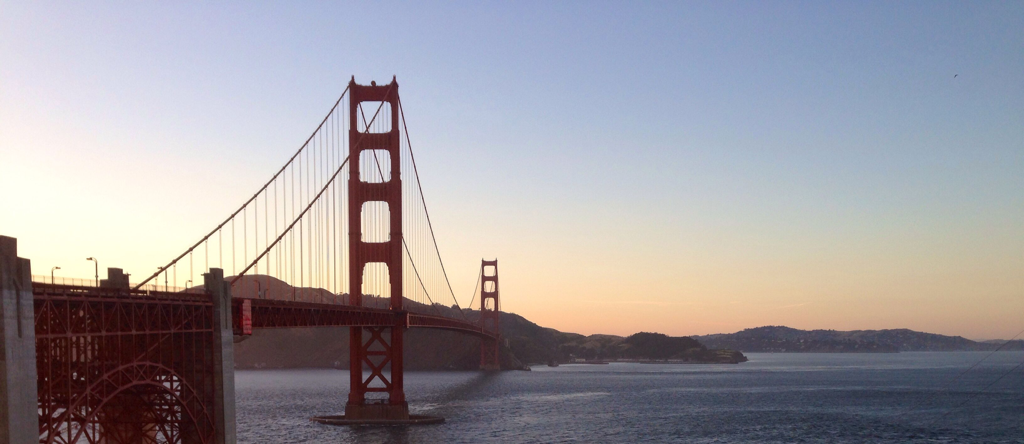 Golden Gate Bridge At Sunset In San Francisco California Golden Gate Bridge Forest Photos Romantic Places