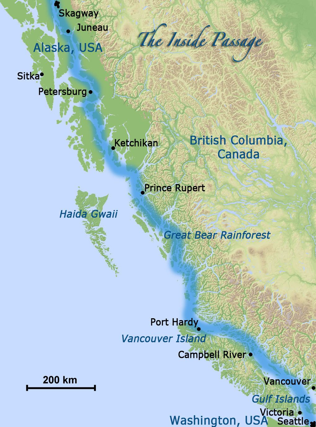 Map Usa Canada West Coast Map Map Of The United States - Map of usa and canada east coast