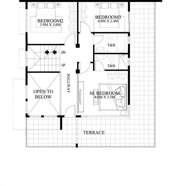 mhd 2015020 second floor plan - My Dream House Plan